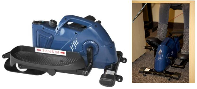Under Desk Or Stand Up Mini Elliptical With Angle Adjustable Pedals