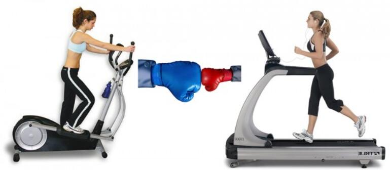 elliptical and treadmill