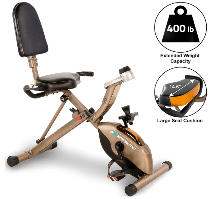 exerpeutic folding elliptical for heavy people